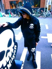67 LOGO SKULL ZIP UP PARKA